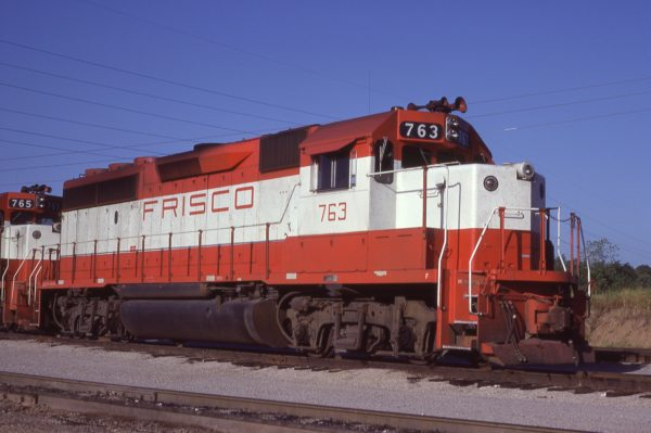 GP40-2 763 at Tulsa, Oklahoma on August 19, 1980 (J.C. Benson)