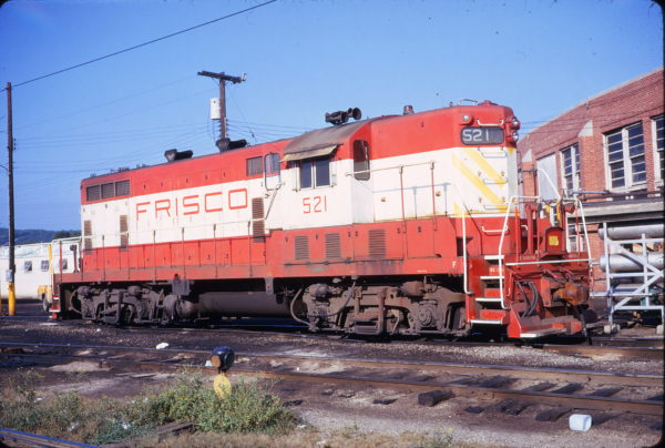 GP7 521 at Tulsa, Oklahoma on August 19, 1973 (Phillip Faudi)