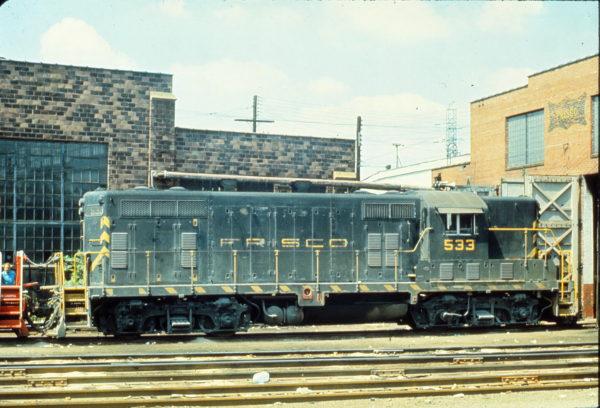 GP7 533 at Lindenwood Yard, St. Louis, Missouri (date unknown)