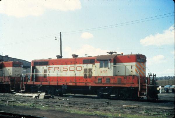GP7 544 at Birmingham, Alabama in March 1974 (Vernon Ryder)
