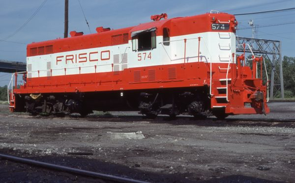 GP7 574 at Omaha, Nebraska on August 12, 1979 (Jerry Bosanek)