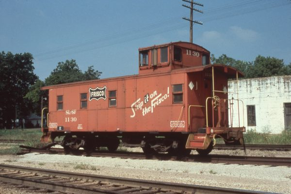 Caboose 1130 at Willow Springs, Missouri in September 1979