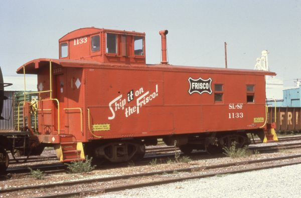 Caboose 1133 at Enid, Oklahoma in August 1973