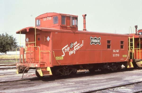 Caboose 1170 at Enid, Oklahoma in August 1973