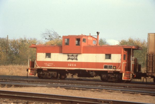 Caboose 1214 at Sherman, Texas in November 1980
