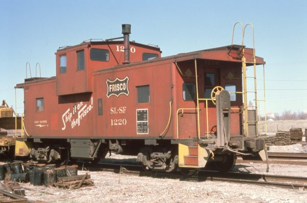 Caboose 1220 at Oklahoma City, Oklahoma in March 1975