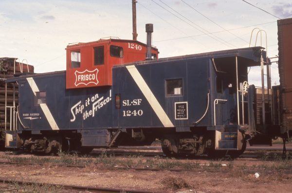 Caboose 1240 at Fort Smith, Arkansas in July 1973