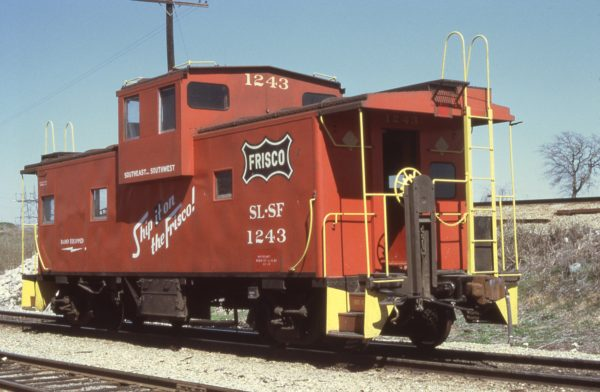 Caboose 1243 at Irving, Texas in March 1973