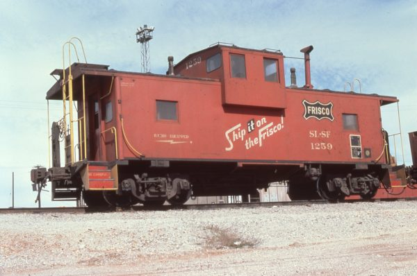 Caboose 1259 at Springfield, Missouri in October 1979