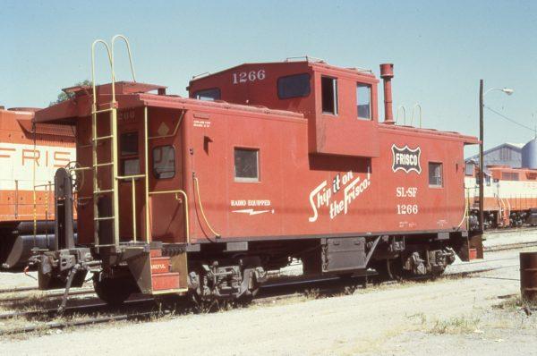 Caboose 1266 at Oklahoma City, Oklahoma in September 1971