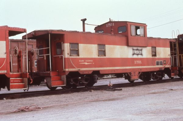 Caboose 1701 at Springfield, Missouri in May 1980