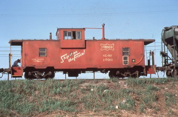 Caboose 1709 at Springfield, Missouri in October 1979