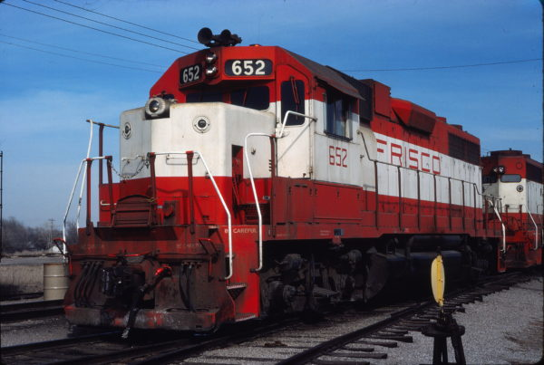 GP38AC 652 at Enid, Oklahoma on March 5, 1980 (Gene Gant)