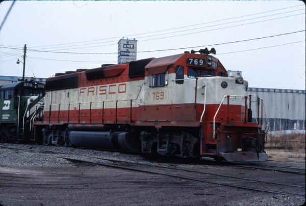 GP40-2 769 at Enid, Oklahoma on January 12, 1981 (Gene Gant)