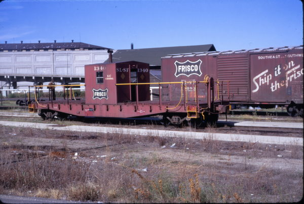 Transfer Caboose 1340 at Kansas City, Missouri in September 1972 (George Menge)