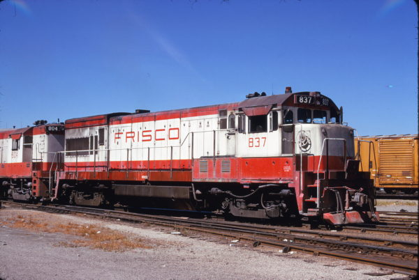 U30B 837 at Kansas City, Missouri on July 11, 1974 (James Primm)