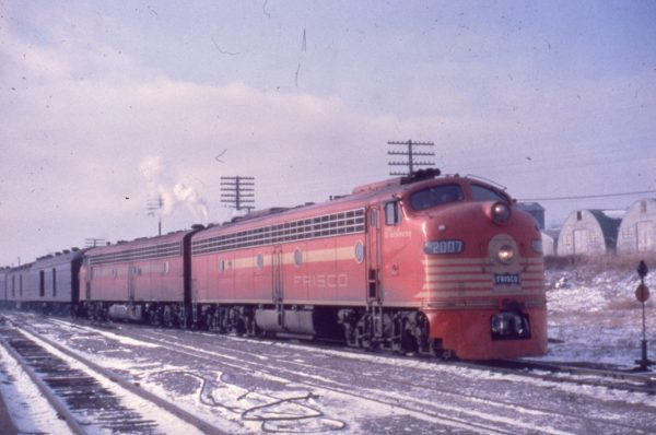 E8A 2007 (Whirlaway) on Train #4 on at Springfield, Missouri on January 10, 1962