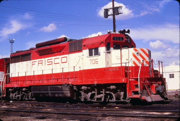 GP35 706 at Springfield, Missouri in June 1973 (Golden Spike Productions)
