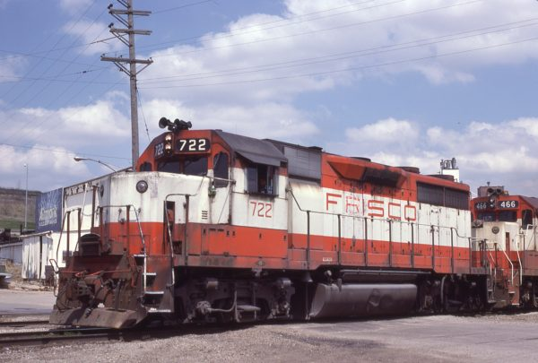 GP35 722 at Kansas City, Missouri on April 18, 1980 (J.C. Benson)