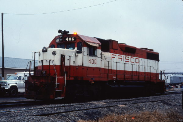 GP38-2 406 at Enid, Oklahoma on November 11, 1980 (Gene Gant)