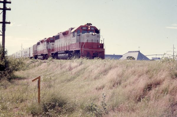 GP38-2s 683 and 663 in July 1973 (location unknown)