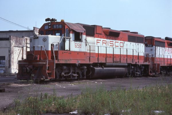 GP38AC 658 (location unknown) in July 1977 (F.S. Novak)