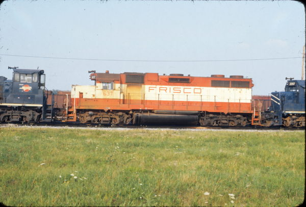 GP38AC 637 (location unknown) on August 21, 1976 (John Eagan)