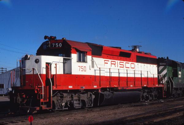 GP40-2 750 at Kansas City, Kansas on January 11, 1981 (Thomas Chenoweth)