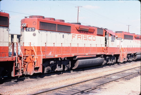 GP40-2 767 at Irving, Texas on February 17, 1981