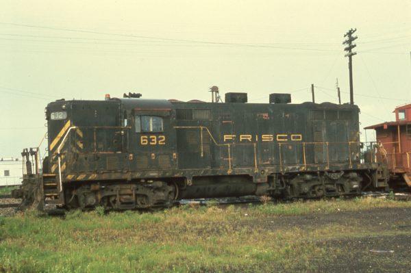 GP7 632 at Hoxie, Arkansas in June 1974