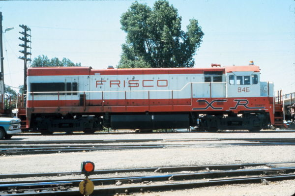 U30B 846 Oklahoma City yard in August 1973