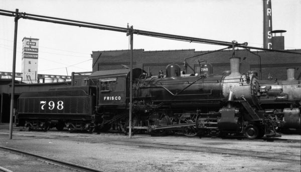 4-6-0 798 at Enid, Oklahoma (date unknown) (Ralph Graves)