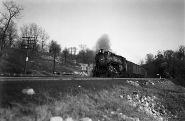 4-8-2 1519 Westbound at Meramec Highlands, Kirkwood, Missouri in 1933