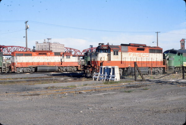 GP35s 702 and 708 at Portland, Oregon on September 12, 1979 (John L. Brown)