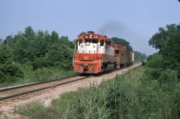 GP38-2 430 (location unknown) in June 1976