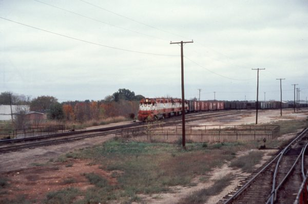 GP38-2 667 at Springfield, Missouri in May 1976