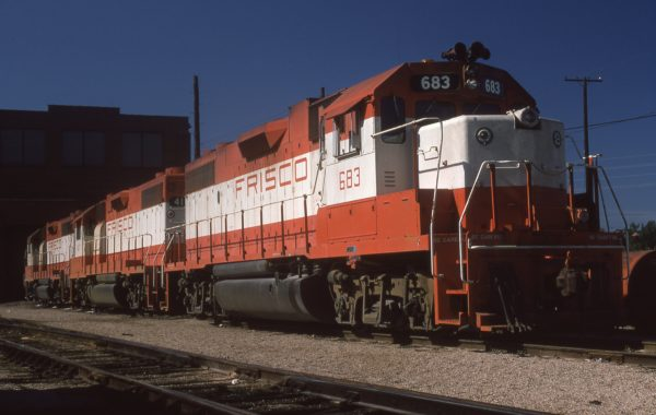 GP38-2 683 at St. Louis, Missouri in October 1974 (J.W. Stubblefield)