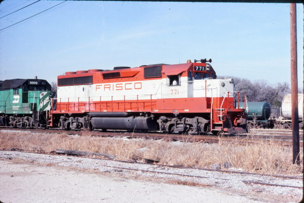 GP40-2 771 at Irving, Texas on January 12, 1981