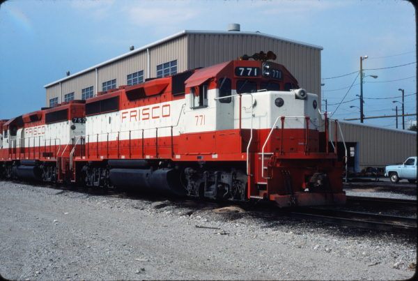 GP40-2 771 at Tulsa, Oklahoma on July 14, 1980 (Gene Gant)