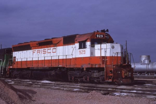 SD45 929 at Lincoln, Nebraska in December 1980 (J.C. Butcher)