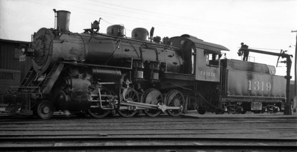 2-8-0 1319 at Enid, Oklahoma (date unknown) (Ralph Graves)