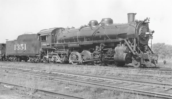 2-8-2 1351 at St. Louis, Missouri on July 19, 1944 (Arthur B. Johnson)