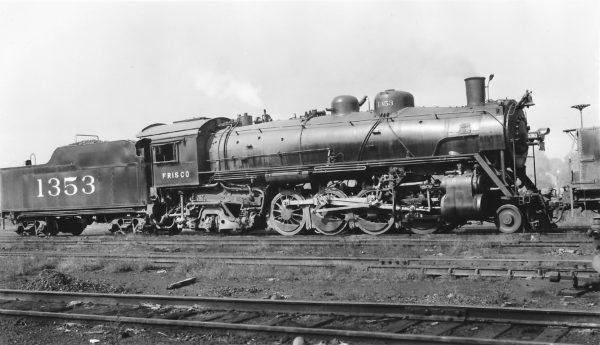 2-8-2 1353 at St. Louis, Missouri in October 1945 (Arthur B. Johnson)