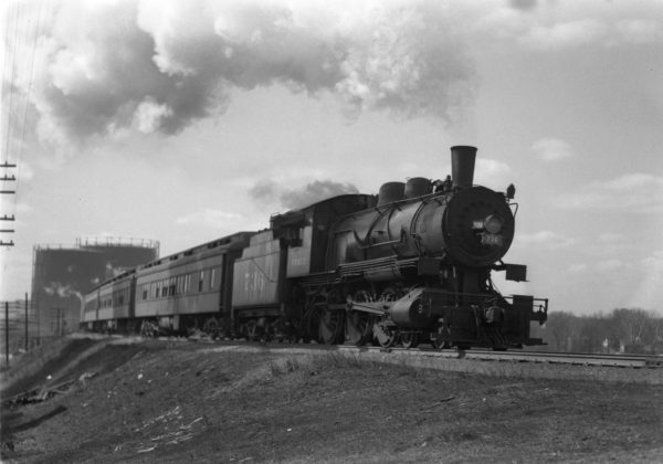 4-6-0 736 Eastbount on a Troop Train at Lindenwood Yard, St. Louis, Missouri in February 1943 (William K. Barham)