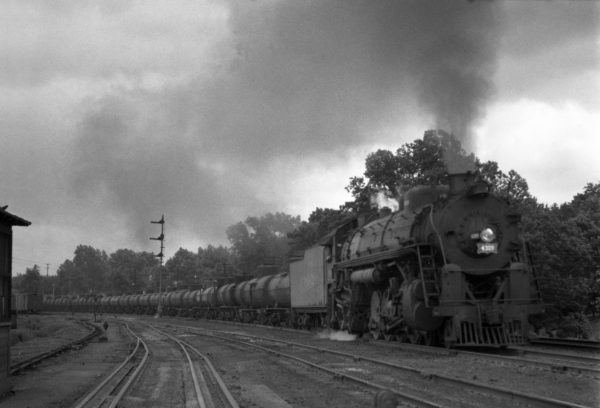 4-8-2 4309 Extra Westbound With Oil at Lindenwood Yard, St. Louis, Missouri in 1942
