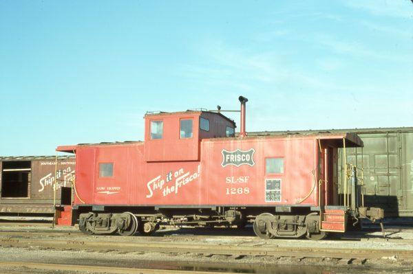 Caboose 1268 at Mobile, Alabama on February 26, 1977