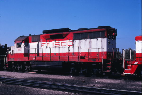 GP35 707 at Springfield, Missouri on September 18, 1978