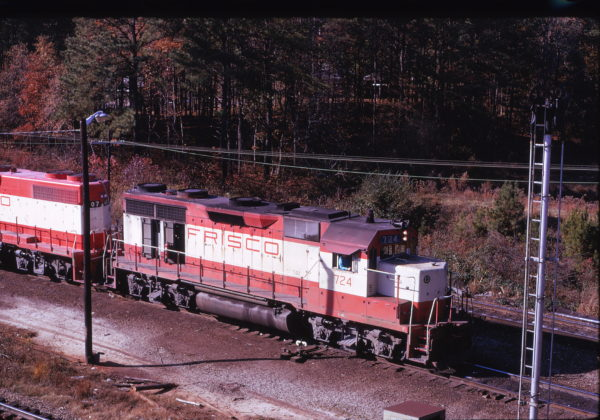 GP35 724 at Greenwood, South Carolina in November 1973