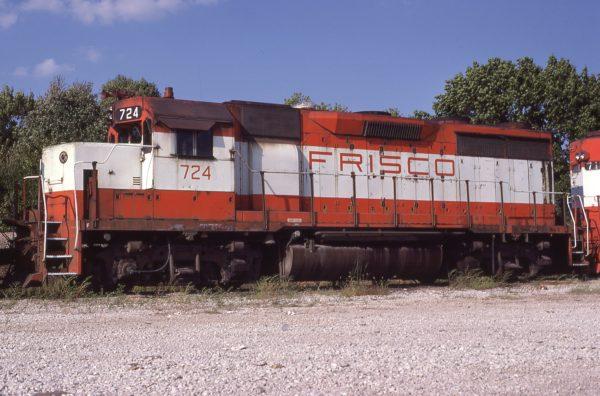 GP35 724 at Springfield, Missouri on August 30, 1980 (P.B. Wendt)