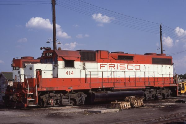 GP38-2 414 at Fort Worth, Texas on August 31, 1980